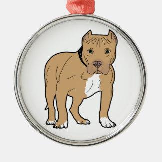 Personalized American Pitbull Dog Metal Ornament