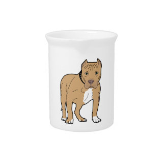 Personalized American Pitbull Dog Pitcher