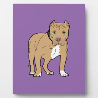 Personalized American Pitbull Dog Plaque