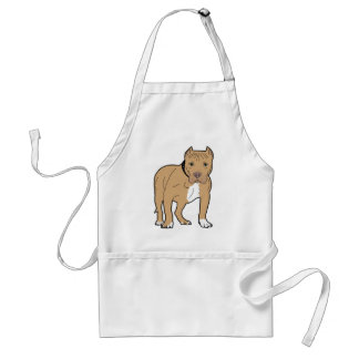 Personalized American Pitbull Dog Standard Apron
