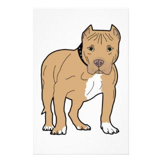 Personalized American Pitbull Dog Stationery