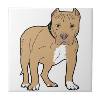 Personalized American Pitbull Dog Tile