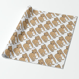 Personalized American Pitbull Dog Wrapping Paper