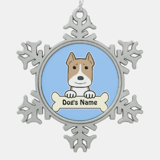 Personalized Amstaff Pewter Snowflake Ornament