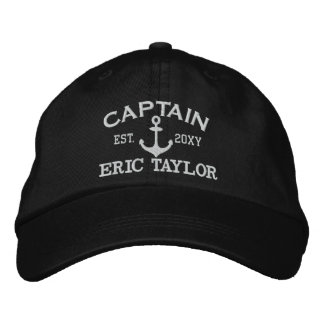 Personalized Anchor Nautical Embroidered Hat