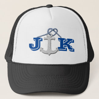Personalized Anchor Print Logo Trucker Hat