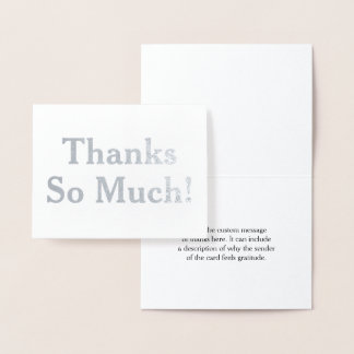 """Personalized and Elegant """"Thanks So Much!"""" Card"""