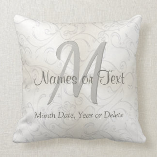 Personalized and Monogram Wedding Pillow