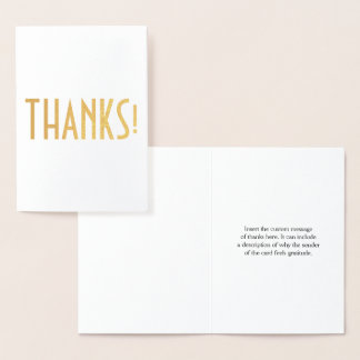 "Personalized and Plain ""THANKS!"" Card"