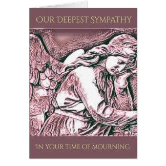 Personalized Angel Sympathy Card