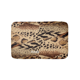 Personalized animal pattern design print texture bath mat