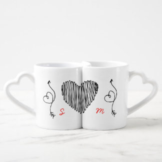 Personalized Anniversary 10th 15th 20th 25th 30th Coffee Mug Set