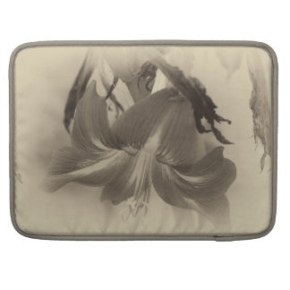 Personalized Antique Amaryllis Flower Sleeve For MacBooks