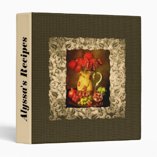 Personalized Antique Fruit and Flower Binder