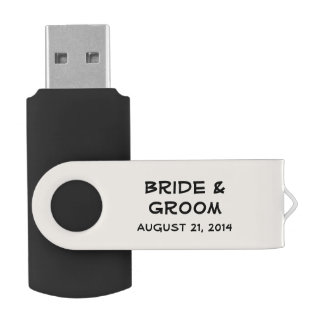 Personalized Antique White Wedding USB Flash Drive