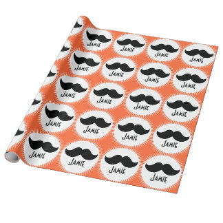 Personalized Any Color Moustache Wrapping Paper