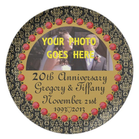 Personalized ANY # Photo Anniversary Display Plate