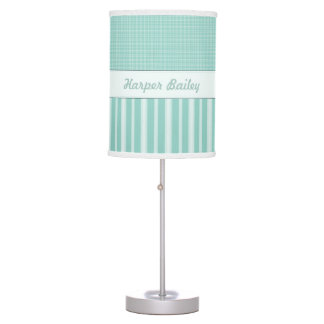 Personalized Aqua Baby Nursery Lamp