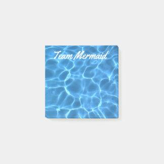 Personalized Aqua Blue Swimming Pool Post-it Notes