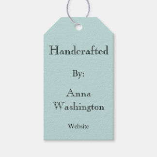 Personalized Aqua Handcrafted Tag Pack Of Gift Tags