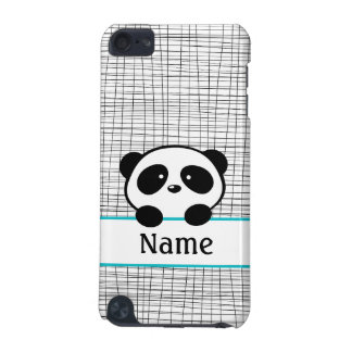 Personalized Aqua Panda iPod Touch Phone Case