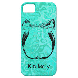 Personalized Aqua Splash Mermaids Playing iPhone 5 Covers