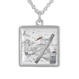 personalized architect tools necklace