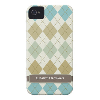 Personalized Argyle Pattern BlackBerry Bold Case