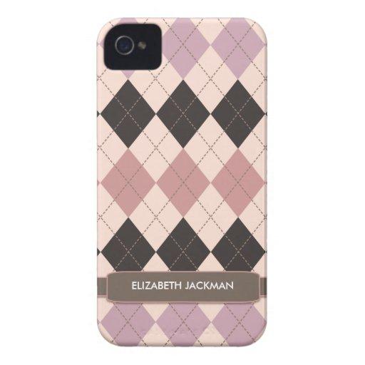 Personalized Argyle Pattern BlackBerry Bold Case