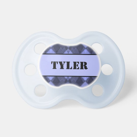 Personalized Argyle Pattern Pacifier