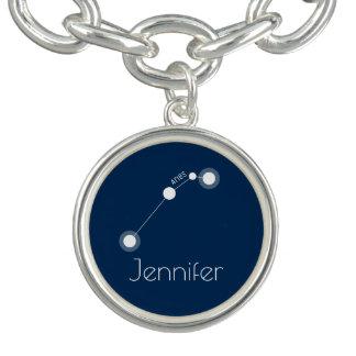 Personalized Aries Zodiac Constellation Charm Bracelets