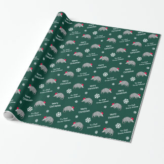 Personalized Armadillo Christmas Wrapping Paper