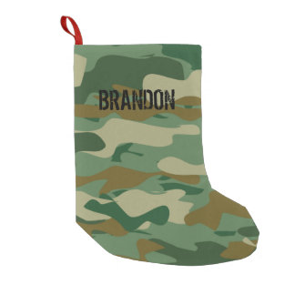 Personalized army camouflage Christmas stocking