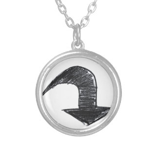Personalized arrow product silver plated necklace