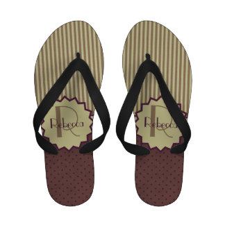 Personalized art deco style pattern sandals