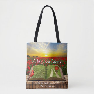 Personalized Artistic Best Teacher Tote Bag