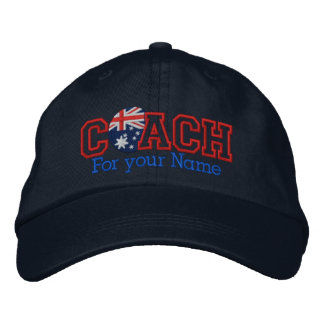Personalized Australia Coach with your name Embroidered Hat