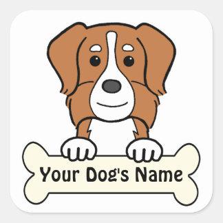 Personalized Australian Shepherd Square Sticker