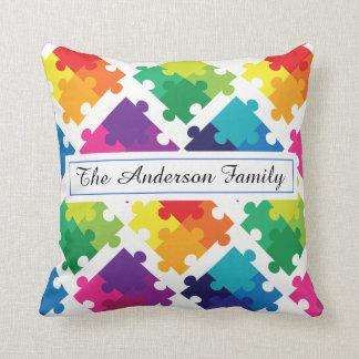 Personalized Autism Awareness Pillow