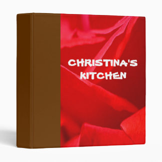 Personalized Avery Binder Memory book RED RAPTURE