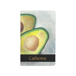 Personalized Avocado in Watercolor Journal