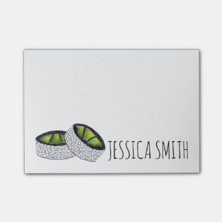Personalized Avocado Sushi Japanese Food Post It Post-it® Notes