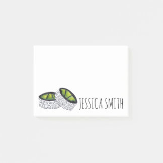 Personalized Avocado Sushi Roll Japanese Food Post-it Notes