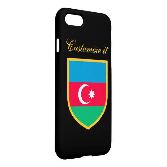 Personalized Azerbaijan Flag iPhone 7 Case