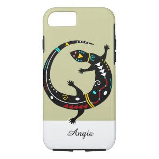 Personalized Aztec Southwest Tribal Lizard Design iPhone 7 Case