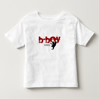 "Personalized b-boy shirt. ""add your name"" toddler t-shirt"