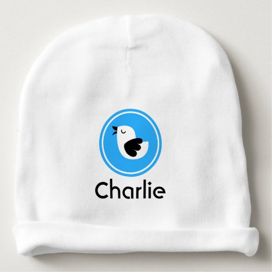 Personalized Baby Beanie With Singing Bird