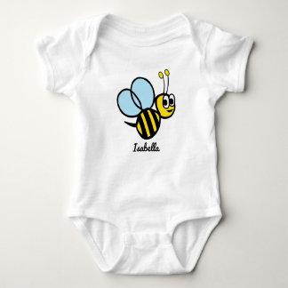 Personalized Baby Bee Cute Yellow Bumblebee Baby Bodysuit