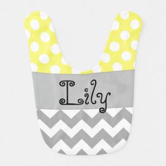 Personalized Baby Bib in Yellow