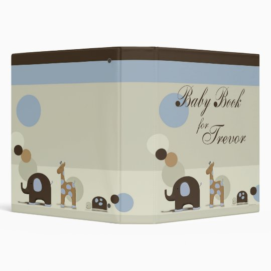 Personalized Baby Book with Stuffed Animals Vinyl Binder